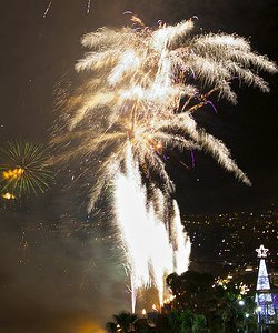 Uudenvuoden ilotulitus Madeiralle