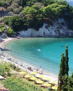 Kreikan Samos ja hiekkaranta